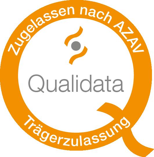 qualidata-zertifizierungslogo-azav-traegerzulassung-kolping BW essen